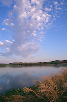 Lower Wisconsin State Wildlife Area, WI<br /> Clouds reflecting on the Wisconsin River - Avoca Prairie State Natural Area