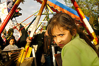 Baghdad, Iraq, Feb 14, 2003.A fun fair in the Adamieh quarter.