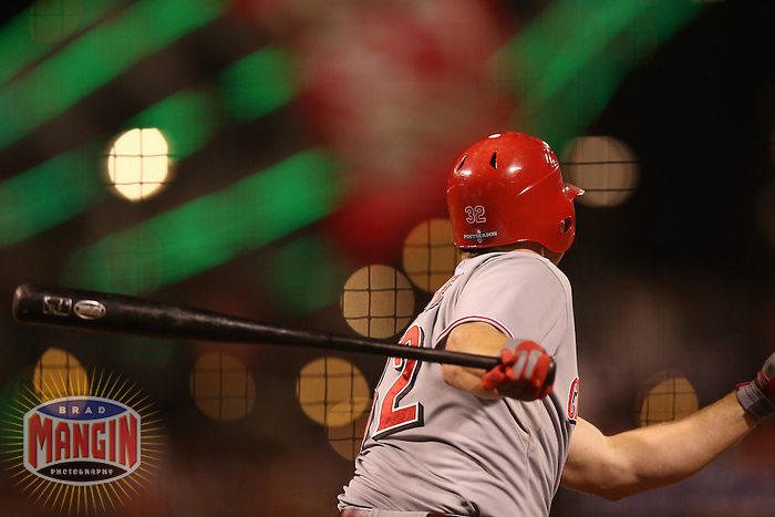 SAN FRANCISCO - OCTOBER 6:  Jay Bruce of the Cincinnati Reds bats during Game 1 of the NLDS against the San Francisco Giants at AT&T Park on October 6, 2012 in San Francisco, California. (Photo by Brad Mangin)