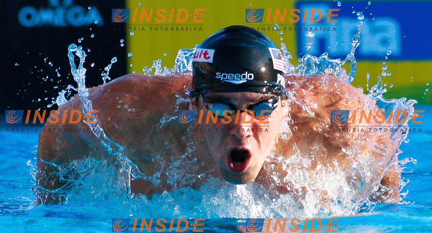 Roma 29th July 2009 - 13th Fina World Championships .From 17th to 2nd August 2009.200 m Butterfly men's .Michael Phelps USA Gold Medal and NEw W.R..photo: Roma2009.com/InsideFoto/SeaSee.com