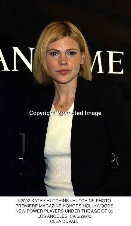 ©2002 KATHY HUTCHINS / HUTCHINS PHOTO.PREMIERE MAGAZINE HONORS HOLLYWOODS.NEW POWER PLAYERS UNDER THE AGE OF 35.LOS ANGELES, CA 5/29/02.CLEA DUVALL