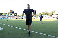 Cary, North Carolina  - Saturday August 05, 2017: Sam Laity prior to a regular season National Women's Soccer League (NWSL) match between the North Carolina Courage and the Seattle Reign FC at Sahlen's Stadium at WakeMed Soccer Park. The Courage won the game 1-0.