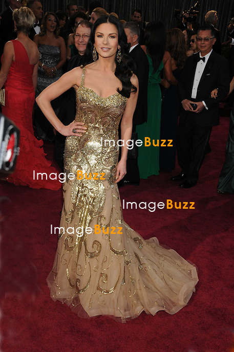 Catherine Zeta- Jones arriving for the 85th Academy Awards at the Dolby Theatre, Los Angeles.