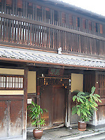 Wooden tea house located in the famous Geisha Gion District