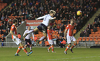 Cameron McGeehan of Luton Town scores his sides second goal during the Sky Bet League 2 match between Blackpool and Luton Town at Bloomfield Road, Blackpool, England on 17 December 2016. Photo by Liam Smith.