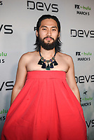 "LOS ANGELES - MARCH 2: Jin Ha attends the premiere of the new FX limited series ""Devs"" at ArcLight Cinemas on March 2, 2020 in Los Angeles, California. (Photo by Frank Micelotta/FX Networks/PictureGroup)"