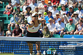 June 18th 2017, Nottingham, England;WTA Aegon Nottingham Open Tennis Tournament day 6;  Monique Adamczak of Australia plays a winning volley as she and her partner Storm Sanders of Australia secure victory over Jocelyn Rae and Laura Robson of Great Britain