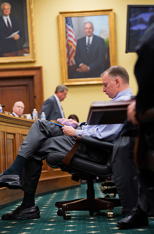 UNITED STATES - APRIL 9: Rep. Tom Rooney, R-Fla, attends  a House Appropriations Committee mark up in Rayburn Building. (Photo By Tom Williams/CQ Roll Call)