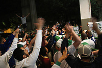 CAMPINAS, SP, 02.08.2019: GUARANI-BRAGANTINO - Torcida do Guarani comemora na saída dos jogadores. Partida entre Guarani e Bragantino pelo Campeonato Brasileiro da Série B na noite desta sexta-feira (02) no estádio Brinco de Ouro em Campinas, interior de São Paulo. (Foto: Luciano Claudino/Código19)