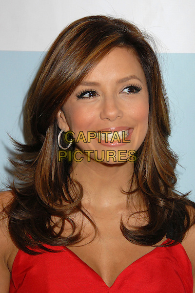 EVA LONGORIA.Platinum Guild International and Clothes Off Our Back Celebration, Awards and Cocktail Party at the Luxe Hotel Rodeo Drive, Beverly Hills, California, USA..September 12th, 2007.headshot portrait hoop earrings .CAP/ADM/BP.©Byron Purvis/AdMedia/Capital Pictures.