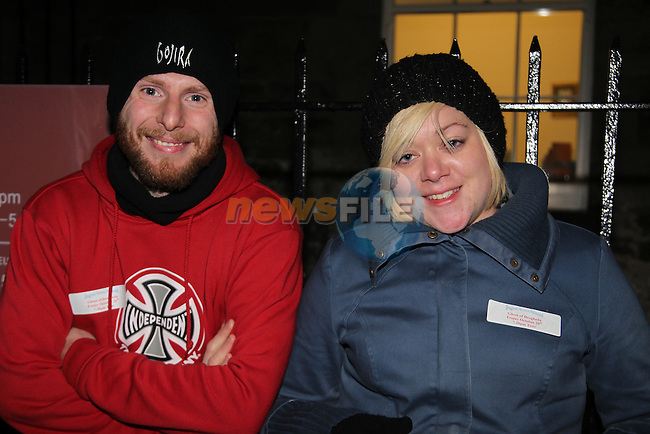 Shane McEnaney and Deirdre Kennedy.at the walking ghost tours in Millmount..Picture: Fran Caffrey/www.newsfile.ie.