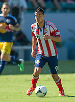 CARSON, CA - August 25, 2013: Chivas USA vs New York Red Bulls match at the StubHub Center in Carson, California. Final score, Chivas USA 3, New York Red Bulls 2.