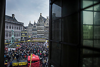 Team Wanty Gobert pre race team presentation on the spectacular start podium in the center square of the race start town of Antwerp<br /> <br /> 103rd Ronde van Vlaanderen 2019<br /> One day race from Antwerp to Oudenaarde (BEL/270km)<br /> <br /> ©kramon