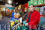 Pictured at the foodshare depot in Monavalley Tralee on Tuesday were from left: Helen Locke SVdeP, Jamie Blake, SVdeP, Courtney Sheey, Foodshare and Paddy Kevane SVdeP.
