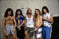Metal Church portraits photographed in Chicago, Illinois.<br /> July 3,1987 CAP/MPI/GA<br /> &copy;GA/MPI/Capital Pictures