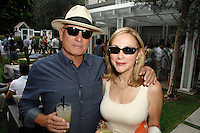 Marc Richards, Andrea Kaye==<br /> LAXART 5th Annual Garden Party Presented by Tory Burch==<br /> Private Residence, Beverly Hills, CA==<br /> August 3, 2014==<br /> ©LAXART==<br /> Photo: DAVID CROTTY/Laxart.com==