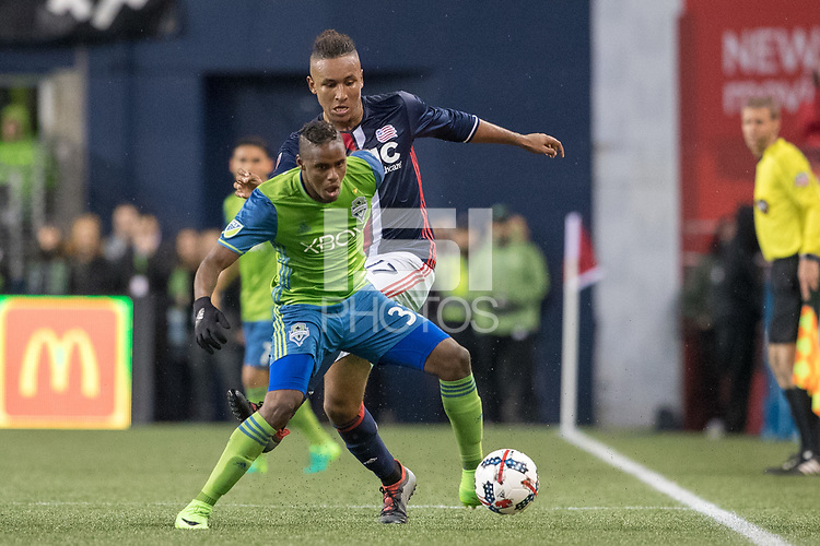 Seattle, Washington - Saturday, April 29, 2017.  Seattle Sounders FC vs. New England Revolution. Final Score: Seattle Sounders FC 3, New England Revolution 3