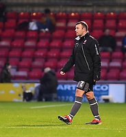 Lincoln City's Matt Rhead warms up during half time<br /> <br /> Photographer Andrew Vaughan/CameraSport<br /> <br /> The EFL Sky Bet League Two - Crewe Alexandra v Lincoln City - Wednesday 26th December 2018 - Alexandra Stadium - Crewe<br /> <br /> World Copyright &copy; 2018 CameraSport. All rights reserved. 43 Linden Ave. Countesthorpe. Leicester. England. LE8 5PG - Tel: +44 (0) 116 277 4147 - admin@camerasport.com - www.camerasport.com