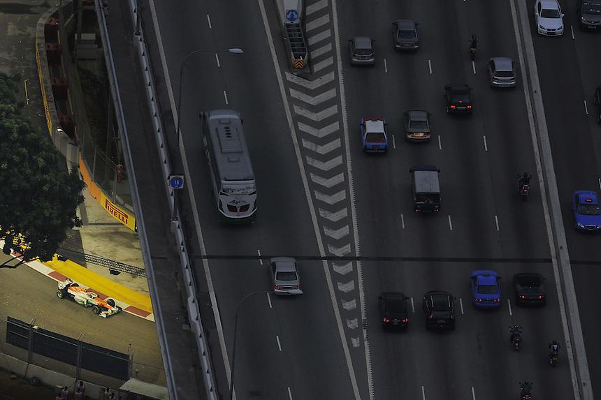 .Nico Huelkenberg (GER), Force India Formula One Team ..2012 FIA Formula One World Championship - Singtel Formula One Grand Prix, Marina Bay Street Circuit, Singapore, Singapore, Friday 21st September 2012...