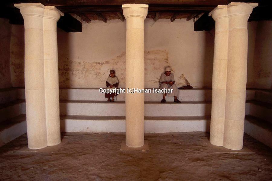 Israel, Lower Galilee, a First Century Synagogue at Nazareth Village