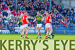 Anthony Maher Kerry in action against Eoin Cadogan Cork in the National Football League at Pairc Ui Rinn, Cork on Sunday.