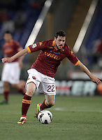 Calcio, Serie A: Roma vs Chievo Verona, Stadio Olimpico, Roma, 7 maggio  2013..AS Roma forward Mattia Destro in action during the Italian serie A football match between Roma and ChievoVerona at Rome's Olympic stadium, 7 maggio  2013..UPDATE IMAGES PRESS/Isabella Bonotto