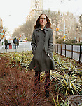 Adriana Jacykewycz, Greenstreets Manager for the City of New York Parks and Recreation. Greenstreets is taked with converting vacant traffic islands into areas filled with vegetation. Amsterdam avenue and 110th street, New York City, New York, March 21, 2009