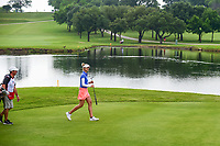 Nelly Korda (USA) crosses the bridge on 8 during round 2 of  the Volunteers of America Texas Shootout Presented by JTBC, at the Las Colinas Country Club in Irving, Texas, USA. 4/28/2017.<br /> Picture: Golffile | Ken Murray<br /> <br /> <br /> All photo usage must carry mandatory copyright credit (&copy; Golffile | Ken Murray)