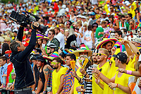 A World Rugby cameraman films fans on day one of the 2018 HSBC World Sevens Series Hamilton at FMG Stadium in Hamilton, New Zealand on Saturday, 3 February 2018. Photo: Dave Lintott / lintottphoto.co.nz