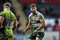 Mike Fitzgerald of Leicester Tigers looks on. Aviva Premiership match, between Leicester Tigers and Sale Sharks on February 6, 2016 at Welford Road in Leicester, England. Photo by: Patrick Khachfe / JMP