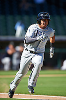 Peoria Javelinas Kean Wong (1), of the Tampa Bay Rays organization, during a game against the Surprise Saguaros on October 20, 2016 at Surprise Stadium in Surprise, Arizona.  Peoria defeated Surprise 6-4.  (Mike Janes/Four Seam Images)