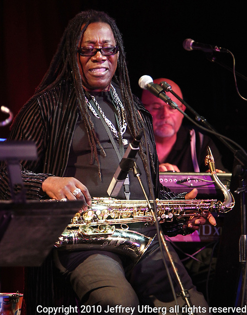 """August 4, 2010 New York: Musician Clarence Clemons performs """"BB King's Blues Club"""" on August 4, 2010 in New York City."""