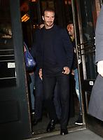 www.acepixs.com<br /> <br /> September 10 2017, New York City<br /> <br /> David Beckham leaves Balthazar on September 10, 2017 in New York City.<br /> <br /> By Line: Nancy Rivera/ACE Pictures<br /> <br /> <br /> ACE Pictures Inc<br /> Tel: 6467670430<br /> Email: info@acepixs.com<br /> www.acepixs.com
