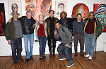L-R) Actors Bruce Kronenberg, Roger Waters, Kathleen Chalfant, Chris Sarandon, JD Williams, Curtis McClarin, Danton Stone and William Marshall after a performance in 'The Exonerated' at the Culture Project in New York City. November 27, 2012.