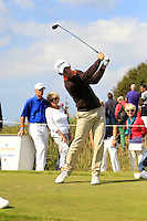 Romain Wattel (FRA) on the 4th tee during Round 2 of the KLM Open at Kennemer Golf &amp; Country Club on Friday 12th September 2014.<br /> Picture:  Thos Caffrey / www.golffile.ie