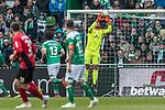 13.04.2019, Weserstadion, Bremen, GER, 1.FBL, Werder Bremen vs SC Freiburg<br /> <br /> DFL REGULATIONS PROHIBIT ANY USE OF PHOTOGRAPHS AS IMAGE SEQUENCES AND/OR QUASI-VIDEO.<br /> <br /> im Bild / picture shows<br /> Stefanos Kapino (Werder Bremen #27) mit erstem Ballkontakt bei Bundesliga-Debüt, <br /> <br /> Foto © nordphoto / Ewert