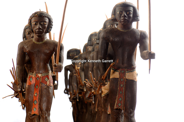 Nubian Archer Warriors,painted wood, 11th Dynasty, from tomb of prince Mesehti, The Egyptian Museum, Cairo,Nubian, Middle Kindgom, Black Pharaohs, Nubians, Egypt