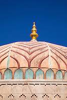 Jaipur, Rajasthan, India.  A Dome of the Amber (or Amer) Palace, near Jaipur.  Cracks show need for constant restorative care.