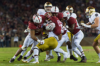 Stanford, CA - November 25, 2017: Stanford football defeats the Notre Dame Fighting Irish 38-20 at Stanford Stadium.