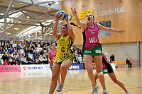 Central Manawa&rsquo;s Renee Savai&rsquo;inaea and Southern Blast&rsquo;s Lauren Pickett in action during the Beko Netball League - Central Manawa v Southern Blast at ASB Sports Centre, Wellington, New Zealand on Sunday 12 May 2019. <br /> Photo by Masanori Udagawa. <br /> www.photowellington.photoshelter.com
