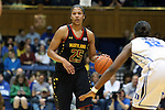 11 February 2013: Maryland's Alyssa Thomas (25) is guarded by Duke's Chelsea Gray (12). The Duke University Blue Devils played the University of Maryland Terrapins at Cameron Indoor Stadium in Durham, North Carolina in an NCAA Division I Women's Basketball game. Duke won the game 71-56.