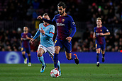 11th January 2018, Camp Nou, Barcelona, Spain; Copa del Rey football, round of 16, 2nd leg, Barcelona versus Celta Vigo; Andre Gomes of FC Barcelona runs forward  with the ball