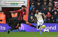 2nd November 2019; Vitality Stadium, Bournemouth, Dorset, England; English Premier League Football, Bournemouth Athletic versus Manchester United; Philip Billing of Bournemouth tries to block the pass from Ashley Young of Manchester United - Strictly Editorial Use Only. No use with unauthorized audio, video, data, fixture lists, club/league logos or 'live' services. Online in-match use limited to 120 images, no video emulation. No use in betting, games or single club/league/player publications