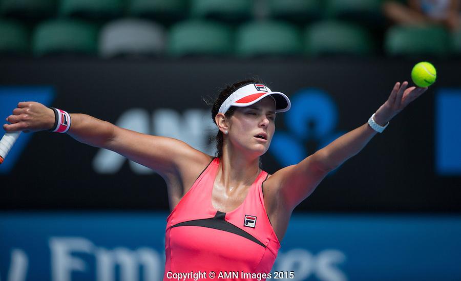 Julia Goerges (GER)<br /> <br /> Tennis - Australian Open 2015 - Grand Slam -  Melbourne Park - Melbourne - Victoria - Australia  - 23 January 2015. <br /> &copy; AMN IMAGES