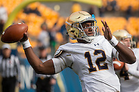Notre Dame quarterback Brandon Wimbush. The Notre Dame Fighting Irish football team defeated the Pitt Panthers 42-30 on Saturday, November 7, 2015 at Heinz Field, Pittsburgh, Pennsylvania.