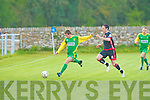 Kerry's Stephen Conway clears the ball in the EA Sports Cup at Mounthawk Park on Tuesday.