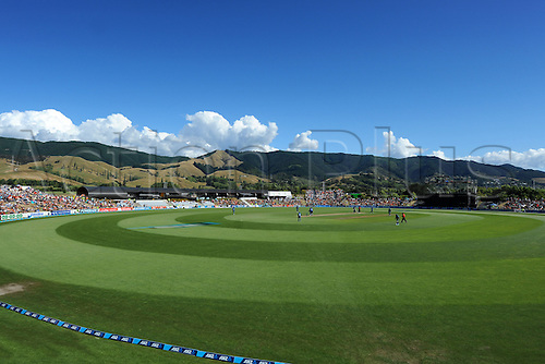 20.01.2015. Saxton Oval, Nelson, New Zealand.  General view of Saxton Oval during Match 4 of the ANZ One Day International Cricket Series between New Zealand Black Caps and Sri Lanka at Saxton Oval, Nelson, New Zealand. Tuesday 20 January 2015.