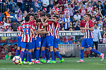 Yannick Ferreira Carrasco of Atletico de Madrid celebrates after scoring a goal- during the match of La Liga between  Atletico de Madrid and Club Atletico Osasuna at Vicente Calderon  Stadium  in Madrid, Spain. April 15, 2017. (ALTERPHOTOS / Rodrigo Jimenez)