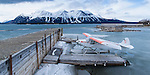 Float plane on  Atlin Lake April