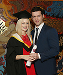 19/1/2015   (with compliments)  Attending the University of limerick conferrings on Monday afternoon was Louise Dineen, Dooradoyle conferred with a MSc in Work and Organisational Behaviour  pictured with her husband Barry O'Farrell .Picture Liam Burke/Press 22
